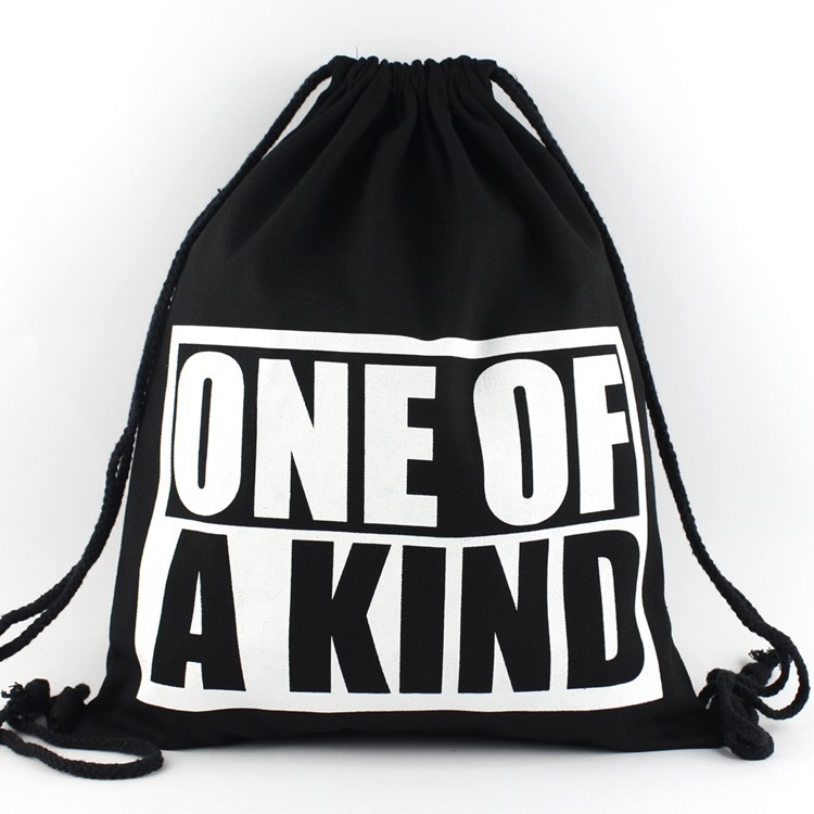 Aliexpress.com : Buy Outdoor Sackpack Printing Cool Black Canvas ...