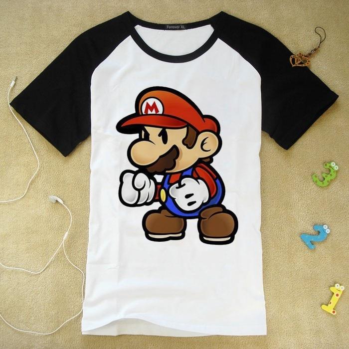 Super Mario Short Sleeved T Shirt Kid Children Summer