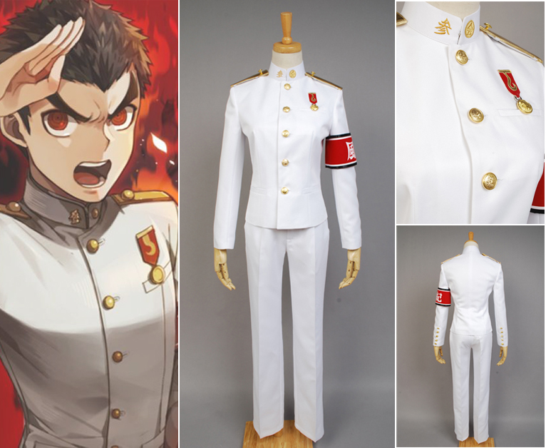 Danganronpa: Trigger Happy Havoc Kiyotaka Ishimaru Uniform Male Coat Pants Anime Halloween Game Cosplay Costumes For Men Custom