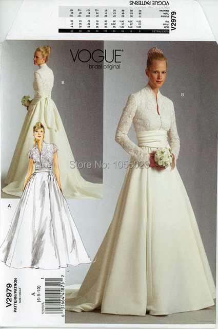 Designer Grace Kelly Wedding Gown Vogue Formal Bridal Gown Fit Flare ...