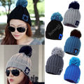 10X 2017 New Fashion Unisex Women Men Star Knit Crochet Knitted Winter Warm Hat Beanie Caps