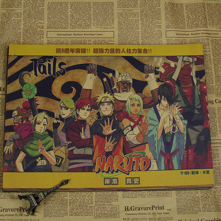 Naruto Poster Bakgrund Anime Dekorativa målningar Naruto / Uchiha - Heminredning - Foto 3