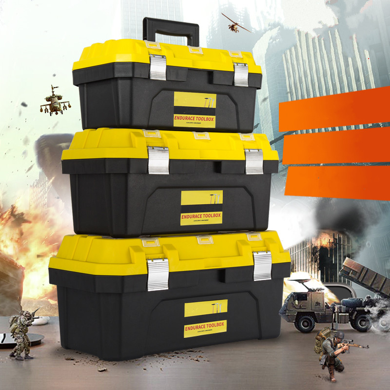 Practical and durable tools box Portable multi - functional hand toolbox hardware accessories toolbox repair tools 26 pieces of household tool set combined machine repair auto repair hardware multi functional toolbox