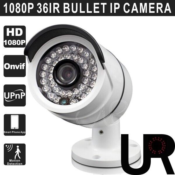1080P 2MP Onvif 36pcs IR Bullet IP Camera with P2P Cloud