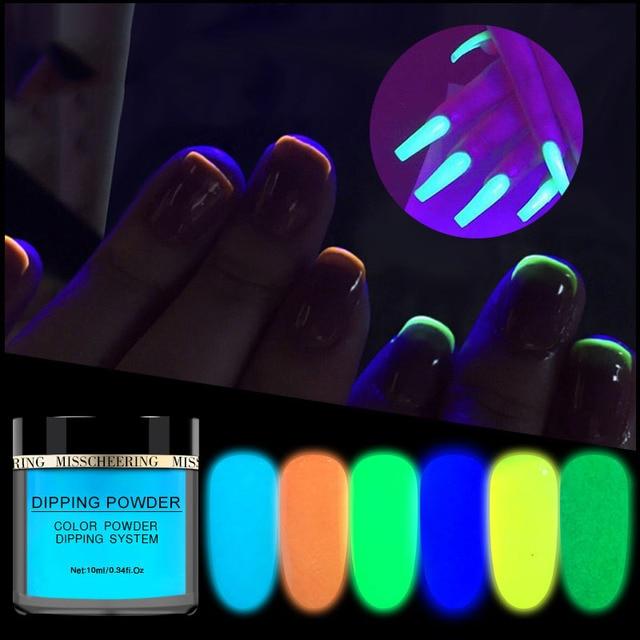 Uñas de infiltración en polvo de uñas de Arte de uñas polvo fluorescente ultrafino brillo polvo de brillo uñas arte polvo