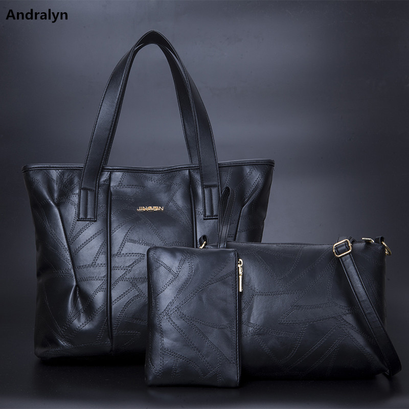 2018 New Luxury Women Handbag Shoulder Bag Tote High Capacity Leather Ladies Messenger Hobo Bags Top Quality bolsa 3PCS/SET vogue star women bag for women messenger bags bolsa feminina women s pouch brand handbag ladies high quality girl s bag yb40 422