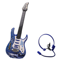 6 Strings Electric Guitar Musical Instrument Early Educational Toy With Earphone For Children Music Interest Development Toys