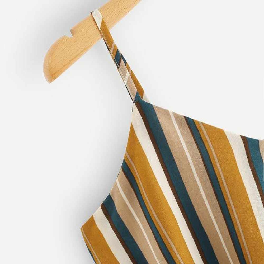 เครื่องประดับสไตล์ 2019 สไตล์ร้อนลาย Camis ผู้หญิง Self Tie กลับ V คอ Cami Crop Top Camisole Tops เสื้อกั๊ก Dropship