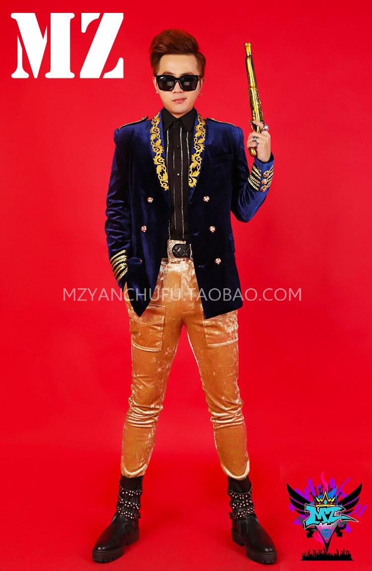 La Hommes Nouveau Avec Mode Veste Mince Chanteur Picture Dj Zhilong As Quan Discothèque Bar Costumes 2018 Vêtements De Costume fd8Yqw8