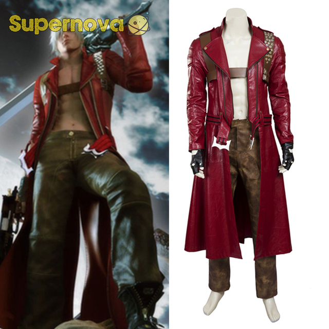 game devil may cry iii 3 dante costume cosplay dante cosplay red