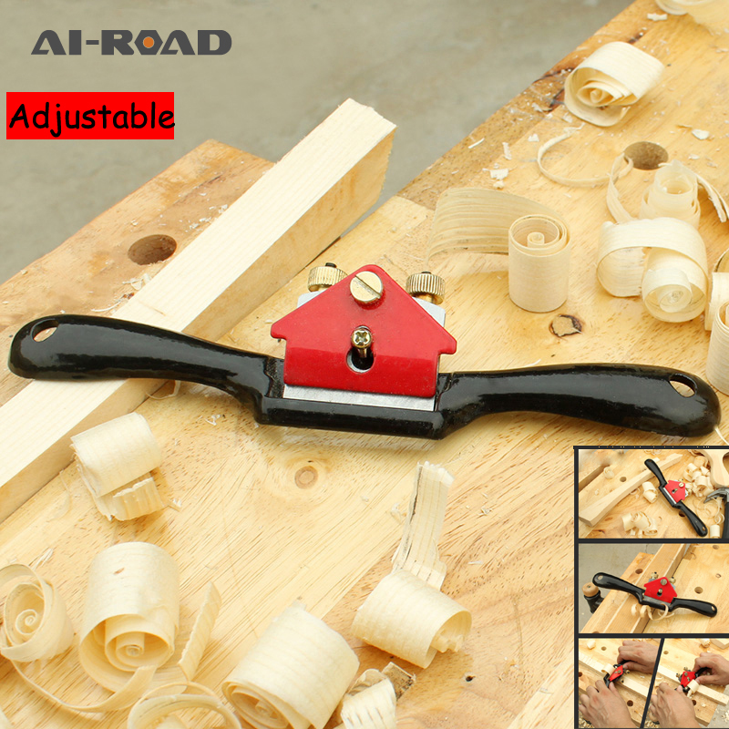 Adjustable Plane Spokeshave Woodworking Hand Planer Trimming Tools 9 Inch Wood Hand Cutting Edge Chisel Tool With Screw