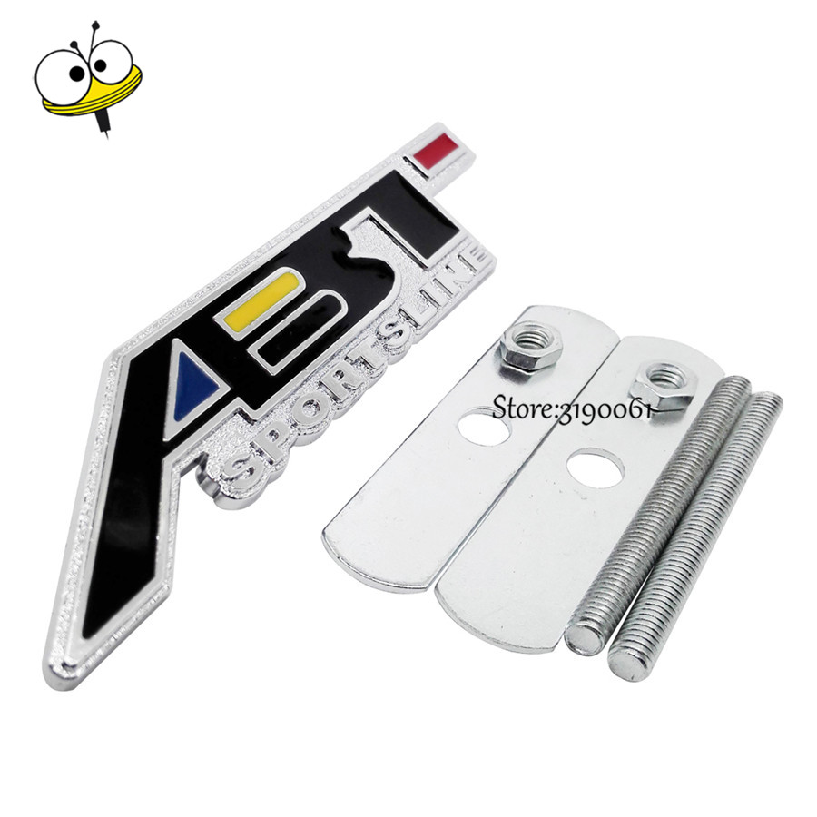 ABT Emblem for <font><b>VW</b></font> Polo Passat Jetta b6 <font><b>Touran</b></font> Touareg Bora Volkswagen Golf 5 6 Car Styling Grille <font><b>Sticker</b></font> Front Decal Badge Auto image