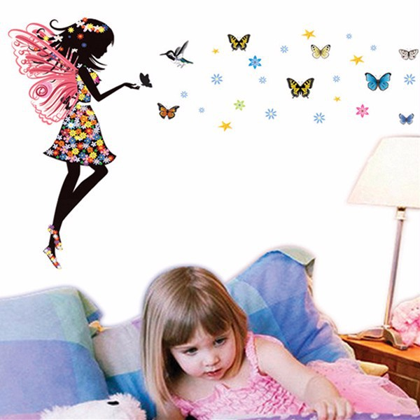HTB1LUurKpXXXXabaXXXq6xXFXXXB Beautiful Butterfly Elf Arts Wall Sticker For Kids Rooms