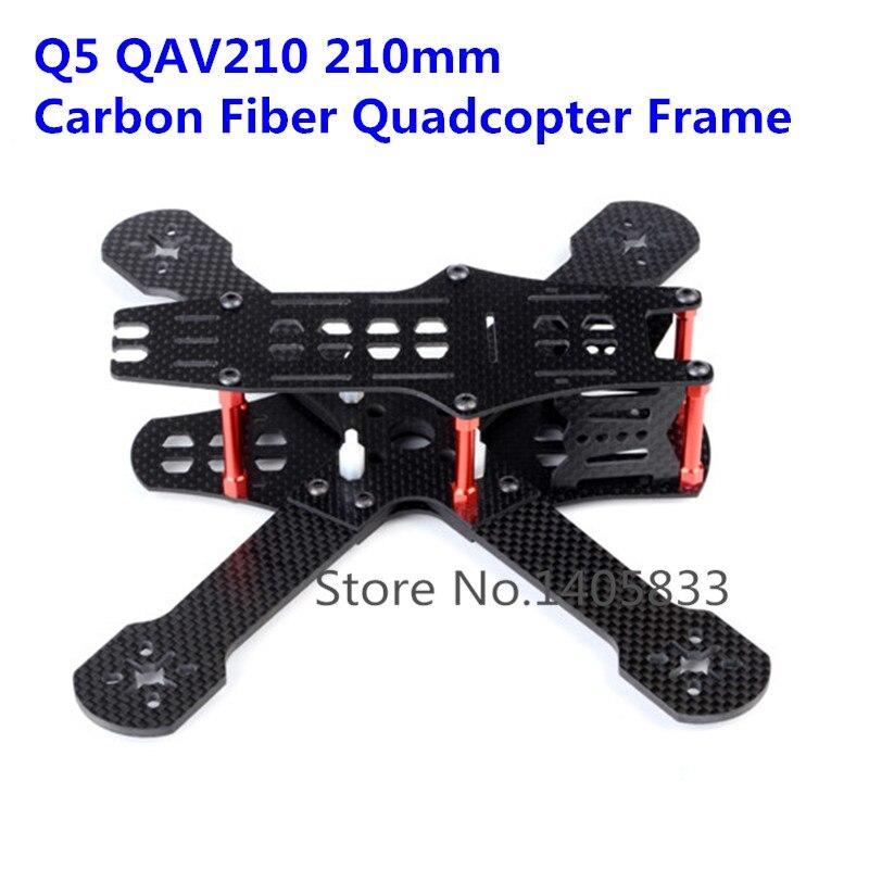 Nouveau Q5 QAV210 210mm 210 Kit de cadre quadrirotor FPV en Fiber de carbone