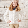 Lolita Crianças Da Menina Da Criança Camisola de Malha Cardigan Casaco Para As Meninas do Sexo Feminino Sólida Rosa Azul do Inverno do Algodão Blusas Quentes 60W0031