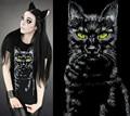 Vendas hot 2016 nova aptidão manga curta animal impresso t-shirt das mulheres 3d cat coelho verão camisas brancas preto 5 padrões