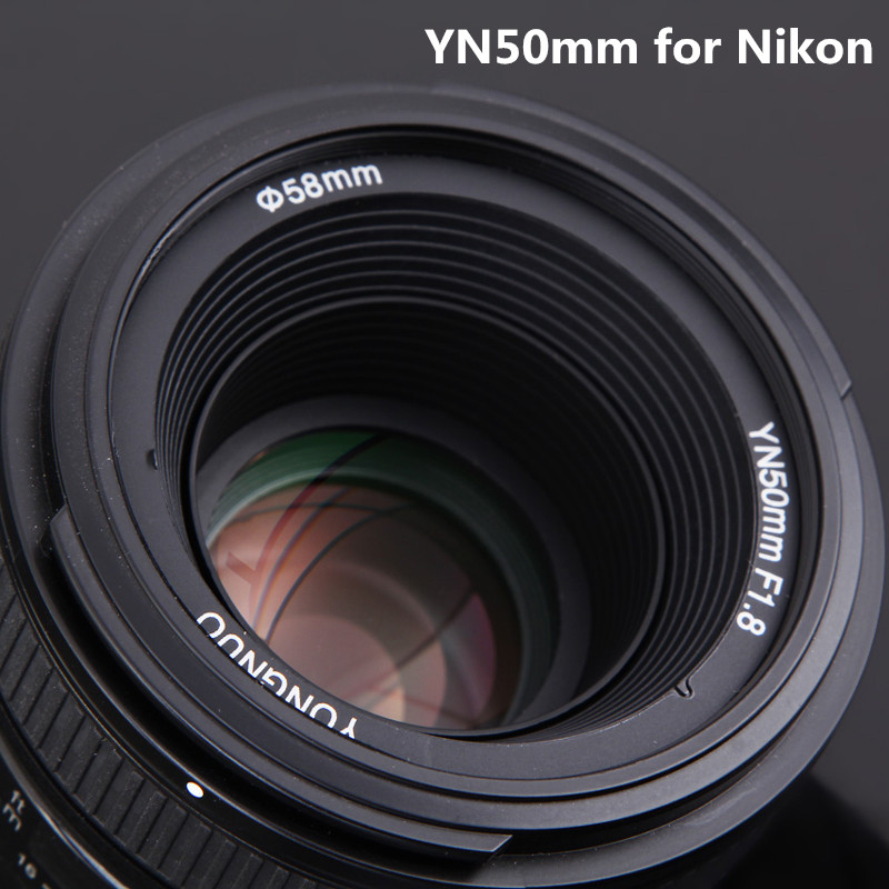 YONGNUO 50mm F1.8N Standard Prime Camera Lens YN50mm Auto Focus Large Aperture for Nikon D5300,F1.8 for Canon EOS 70D 5D2 5D3