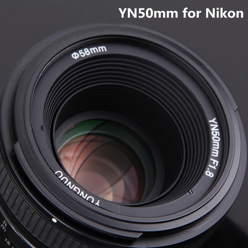 YONGNUO 50mm F1.8N Standard Prime Camera Lens YN50mm Messa A Fuoco Automatica grande Apertura per Nikon D5300, F1.8 per Canon EOS 70D 5D2 5D3
