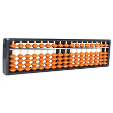 New Abacus Non-toxic Materials Arithmetic Soroban 17 Digits Kids Math Calculating Tool Educational Toys 26.8*1.5cm Plastic цены