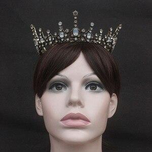 FORSEVEN, Ретро стиль, кристалл в стиле барокко, круглые тиары, короны принцессы, диадема, корональный головной убор для женщин, невесты, Noiva, свадебные украшения для волос