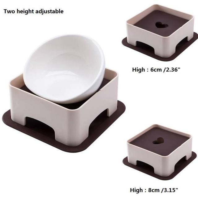 2018 New Pet Dogs &Cats Table Dish Rack Height Adjustment According Dog Bowl Dog Height To Develop Good Eating Habits 5
