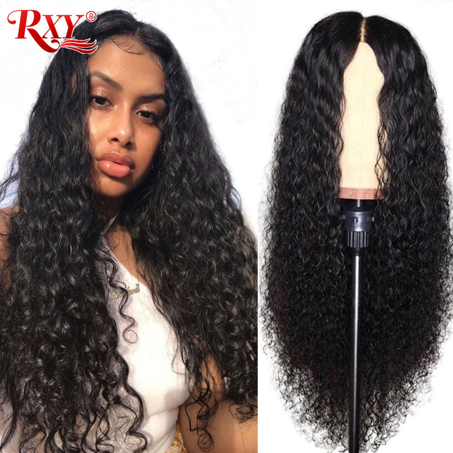 RXY Deep Wave Wig 360 Lace Frontal Wig Pre Plucked With Baby Hair Remy Human Hair Wigs For Black Women Brazilian Lace Front Wigs