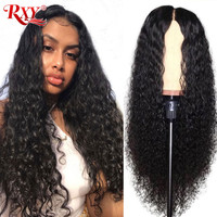 RXY Deep Wave Wig Brazilian 360 Lace Frontal Wig Pre Plucked With Baby Hair 100% Human Hair Wigs 10 26' Fast Shipping Remy Hair