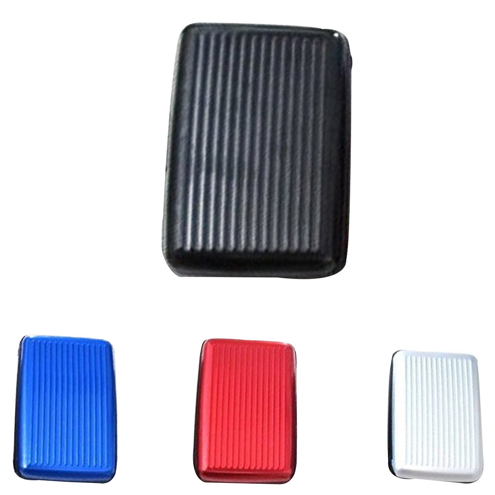 Men Women Anti  Card Holder Aluminum Alloy Shell Case Secure Protection ID Container
