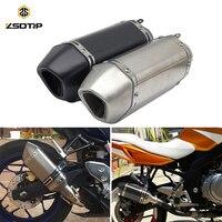 ZSDTRP Universal Motorcycle ATV Short Exhaust Muffler Pipe with DB Killer For CB600 CBR300 CBR250 GY6 YZR R6 NINJA GSXR TAMX