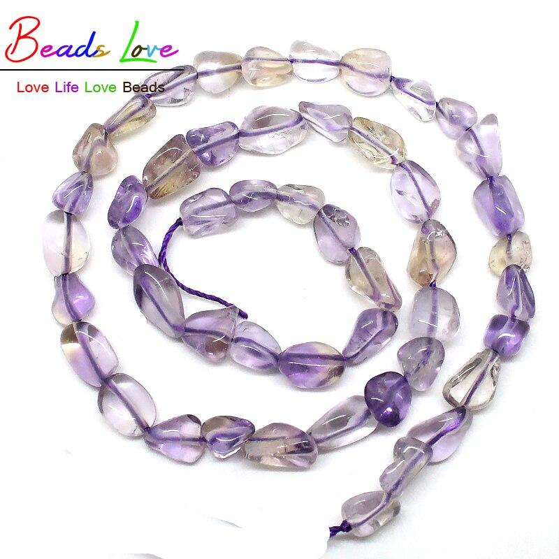df8fcc2badd3 5-8mm suave irregular natural de cristal púrpura piedra suelta Cuentas para  la joyería haciendo 15.5 inch strand DIY pulseras (f00555)