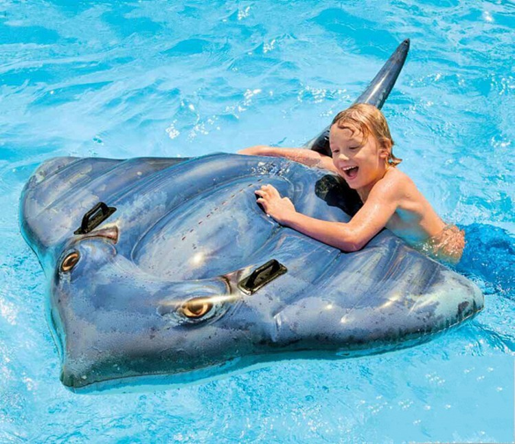 Intex Large Manta Ray Child Inflatable Baby Floating On