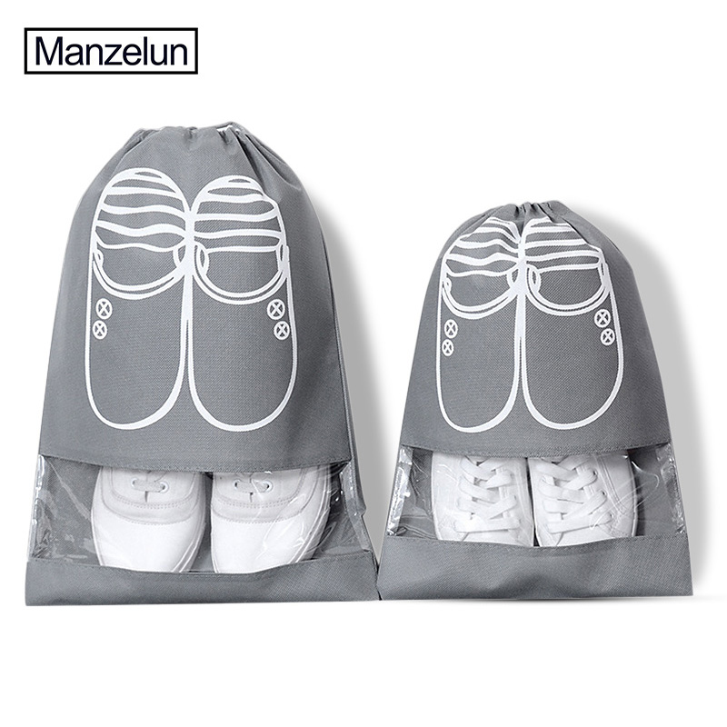 Storage Bags Brilliant 2 Sizes Waterproof Shoes Bag Travel Portable Shoe Storage Bag Organize Tote Drawstring Bag Dolap Organizer Non-woven Organizador
