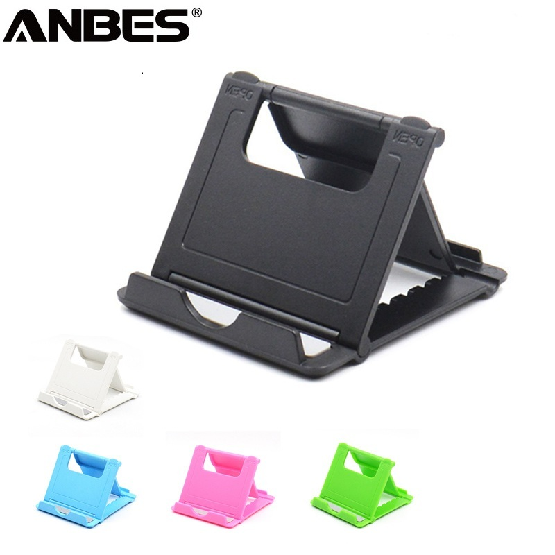 ANBES Foldable Cradle Universal Phone Holder Grip Bracket For Tablet Phone Stand