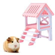Новинка, деревянный дом хомяка, аксессуары, подъем, Эко-дружественный деревянный мост, хомяки, игрушки, домашние животные, шиншиллы, морская свинка, гнездо, лестница