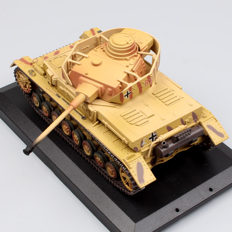 1/48 Scale mini kids New Millennium Classic Armor World War 2 WWII German Tank Panzer IV Ausf fighting vehicle diecast model toy mini world mn202