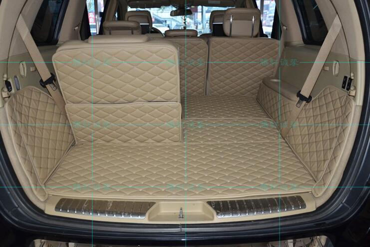 Nouveau tapis de protection de plancher pour tapis de coffre arrière complet pour Benz GL350 GL400 GL500 GL450 X164 2016-2012 7 sièges