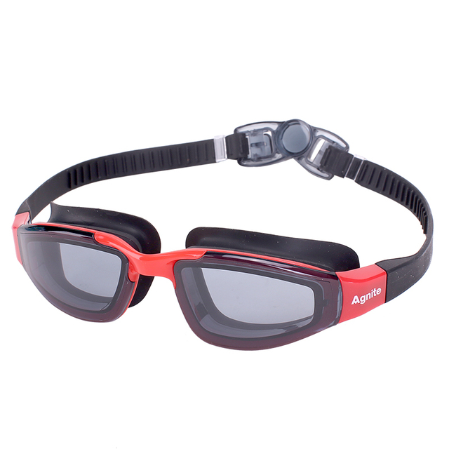 Agnite Anti-Fog Protection Swimming Goggles Men Women Waterproof silicone glasses adult Eyewear