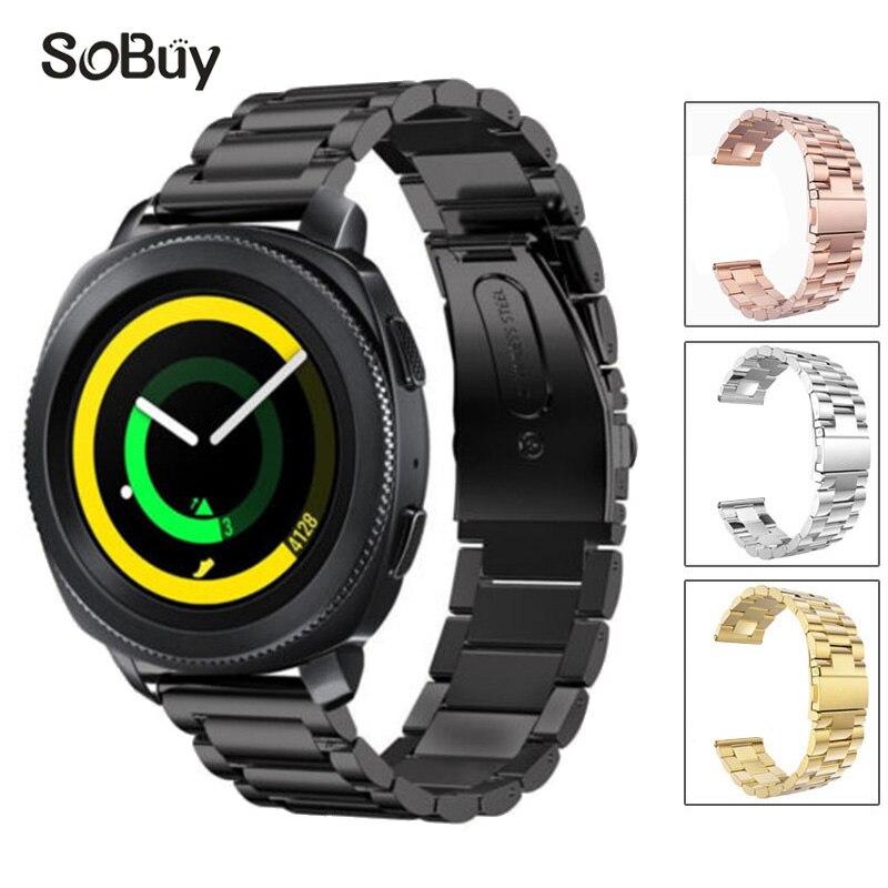 So buy for Samsung Gear Sport S2/S3/S4 watch band Huawei intelligent strap stainless steel metal bracelet 23mm 22mm 20mm 18mm наушники samsung galaxy s5 s4 s3 3 2 s4 ace ej 10