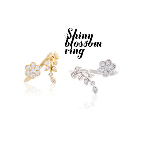 R224 2017 new Twisted Midi Finger Champagne Rhinestone Ring