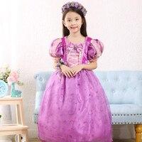 Gril Bébé Princesse Rapunzel robe Enfants Fantasia Robes robes robe pourpre Rapunzel costume robe de Bal Parti vêtements