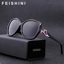 FEISHINI Brand Design Butterfly Plastic Sunglasses Women Polarized Retro UV400 Fashion Driving Eyewear Mujer Sun Glasses 2019