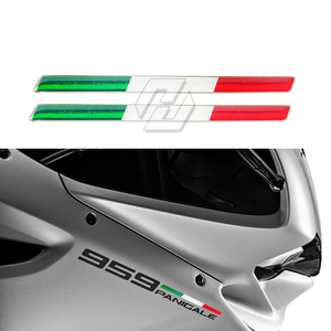 3D Italy Sticker Motorcycle Tank Decals Italia Stickers Case for Aprilia Ducati Monster 959 1199 1299 etc(China)