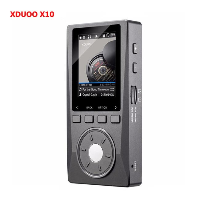 2016 Mais Novo XDUOO DAP X10 DSD Hifi Lossless Leitor de Música Portátil de Alta Resolução de Apoio Saída Óptica/TF Até 256G MP3 Player