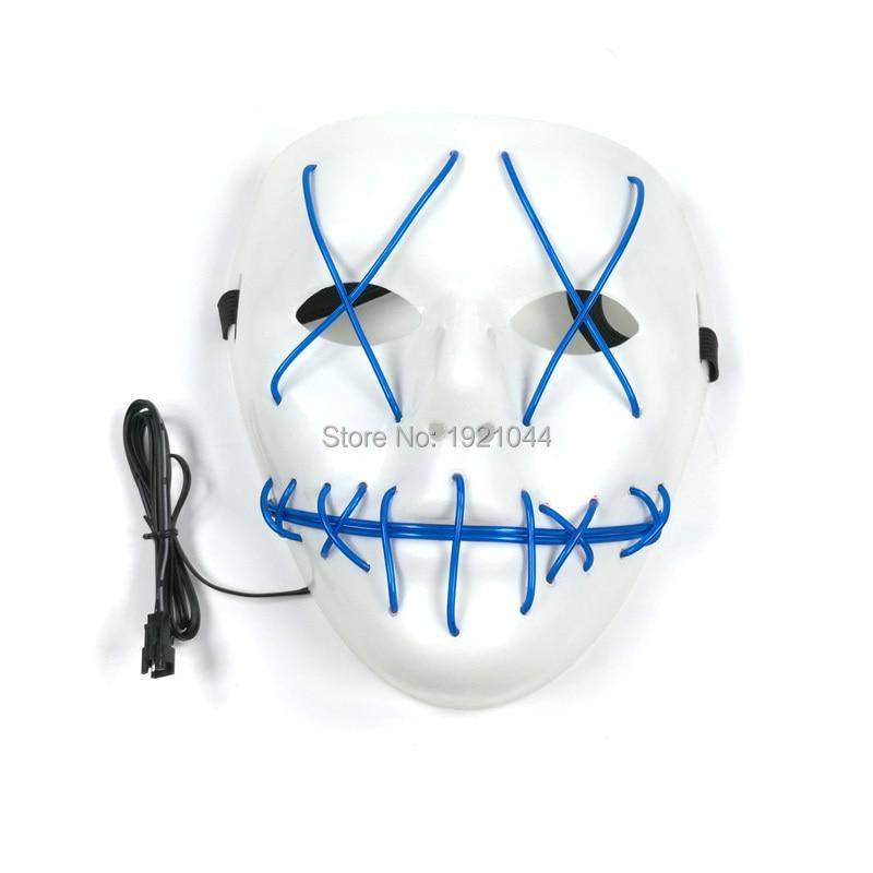 Светящаяся маска EL провода Неоновый свет на шнуровке вечерние маска с DC 3V звуковой активации драйвера фестиваль вечерние сувениры 20 штук оп