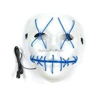 Светящаяся маска EL Wire Neon Light up Вечерние Маски с Sound звуком активированного драйвера праздничные вечерние сувениры 20 штук оптовая продажа про