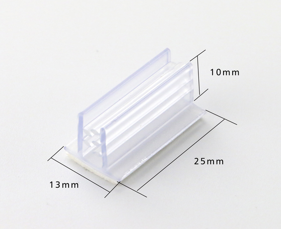 PVC Grip Clip Strip POP Extrude Clip KT Board Label Holder Shelf Advertisiting Sign Snap 25mm Foam Tape Furniture Accessory