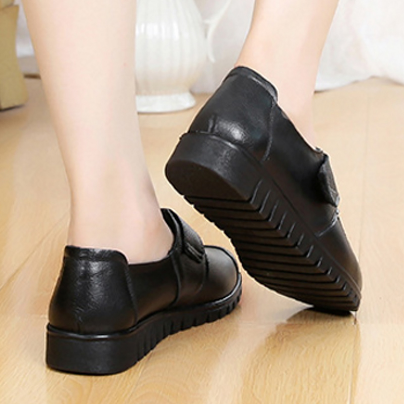 Image 5 - 2019 fashion ladies flats casual shoes round toe big size 35 41 sewing genuine leather shoes women sapato feminino-in Women's Flats from Shoes