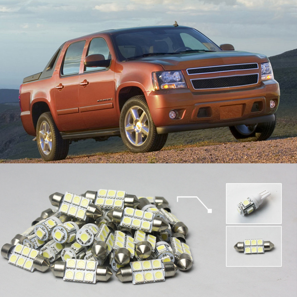 39 8x white led lights interior package kit for chevy avalanche 2007 2013