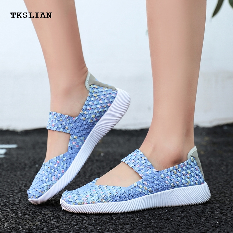 Shoes Casual-Sneakers Multicolor Loafers Heel Slip-On-Light Fashion Women's Summer