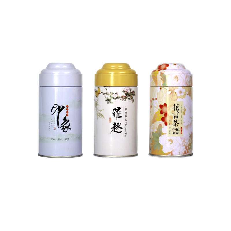 Xin Jia Yi Packaging Box Metal Round Airtight Welding Tea Candy Jewelry Storage Container Sundries Decorative Gift Tin Cans